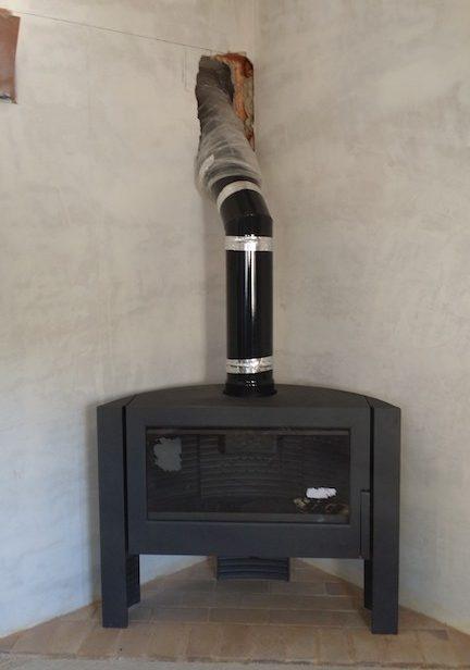 instalación estufa de leña
